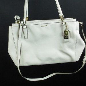 Coach Purse Large Christie Nude Beige Saffiano